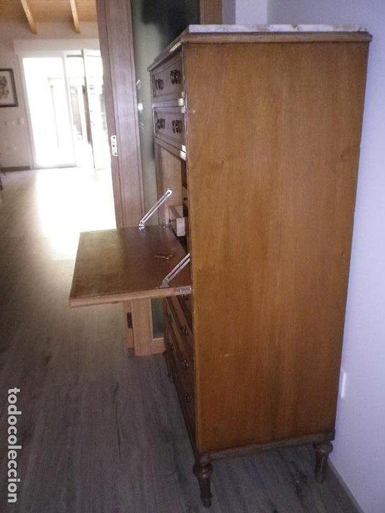 Antigüedades: Mueble madera, escritorio, canterano, cómoda, chifonier, boureau, secreter. - Foto 5 - 194293898