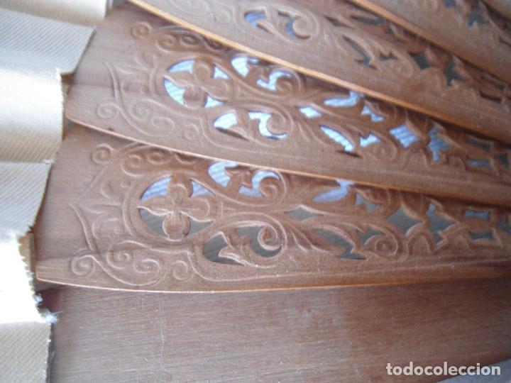 Antigüedades: ANTIGUO ABANICO DECORADO A MANO 35.50 CM - Foto 5 - 194294497