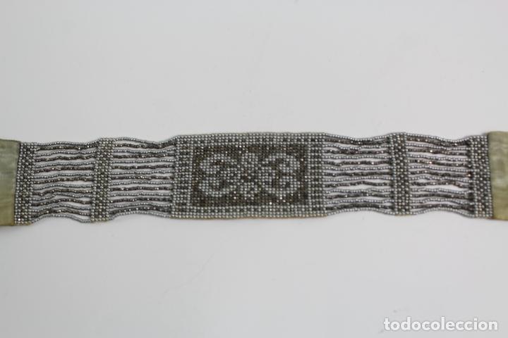 Antigüedades: JOY-1136. COLLAR DE CUENTAS DE CRISTAL PLATEADO. AÑOS 20. - Foto 2 - 194295016