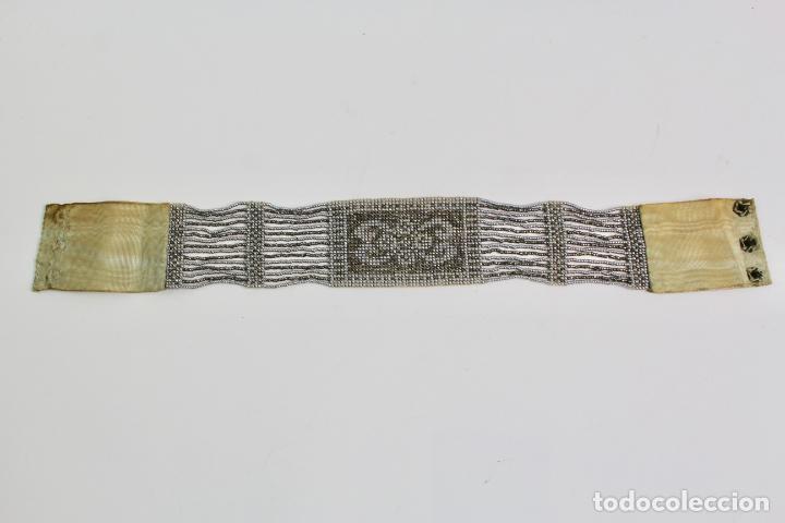 Antigüedades: JOY-1136. COLLAR DE CUENTAS DE CRISTAL PLATEADO. AÑOS 20. - Foto 3 - 194295016