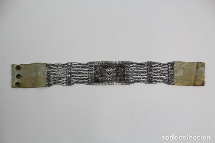 JOY-1136. COLLAR DE CUENTAS DE CRISTAL PLATEADO. AÑOS 20. (Antigüedades - Moda y Complementos - Mujer)
