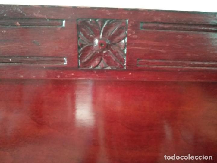 Antigüedades: Cama antigua con iniciales doradas - Foto 6 - 194295675