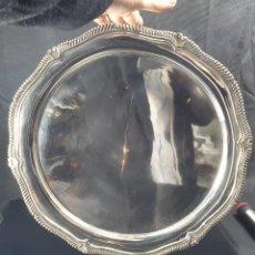 Antigüedades: BANDEJA EN PLATA LEY MARCADO CON CONTRASTE. Lote 194298933