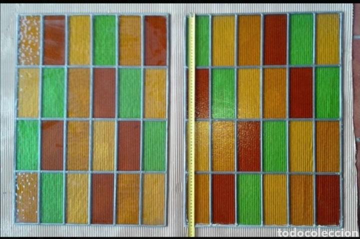 VIDRIERAS EMPLOMADAS 50X70 (Antigüedades - Cristal y Vidrio - Otros)