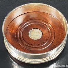 Antigüedades: BASE EN PLATA LEY MARCADO CON CONTRASTE. Lote 194301291