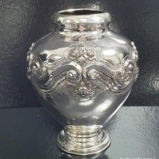 Antigüedades: JARRO EN PLATA LEY MARCADO CON CONTRASTE. Lote 194301575
