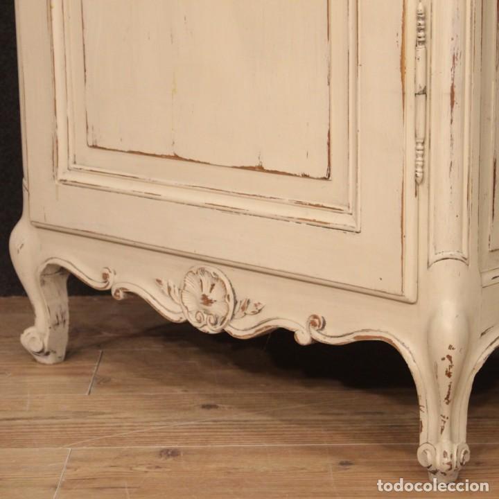 Antigüedades: Vitrina francesa lacada shabby chic - Foto 5 - 194304095