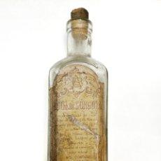 Antigüedades: ANTIGUA BOTELLA DE AGUA DE SUNGORA. VIGORIZADOR DE CABELLO.. Lote 194305140