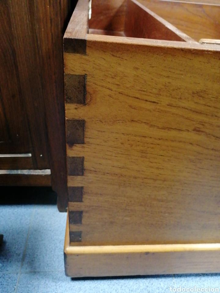 Antigüedades: Baúl antiguo de madera maciza - Foto 4 - 194313068