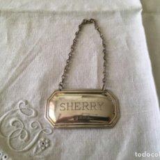 Antigüedades: CHAPA DE PLATA SHERRY - JEREZ.. Lote 194315901
