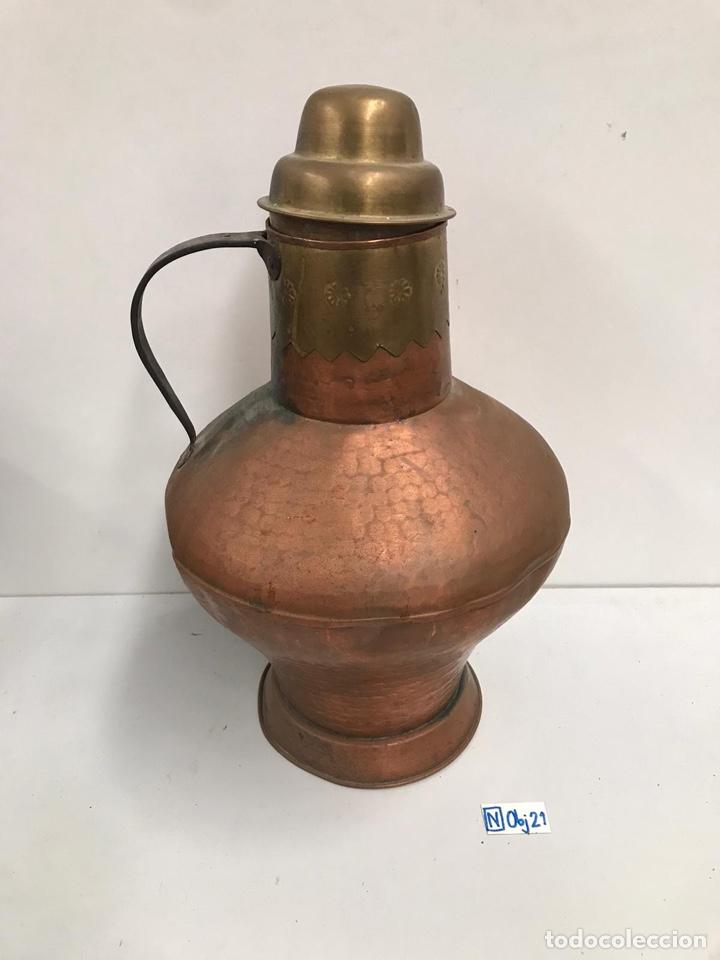 Antigüedades: Antigua lechera de cobre gran tamaño - Foto 2 - 194317210