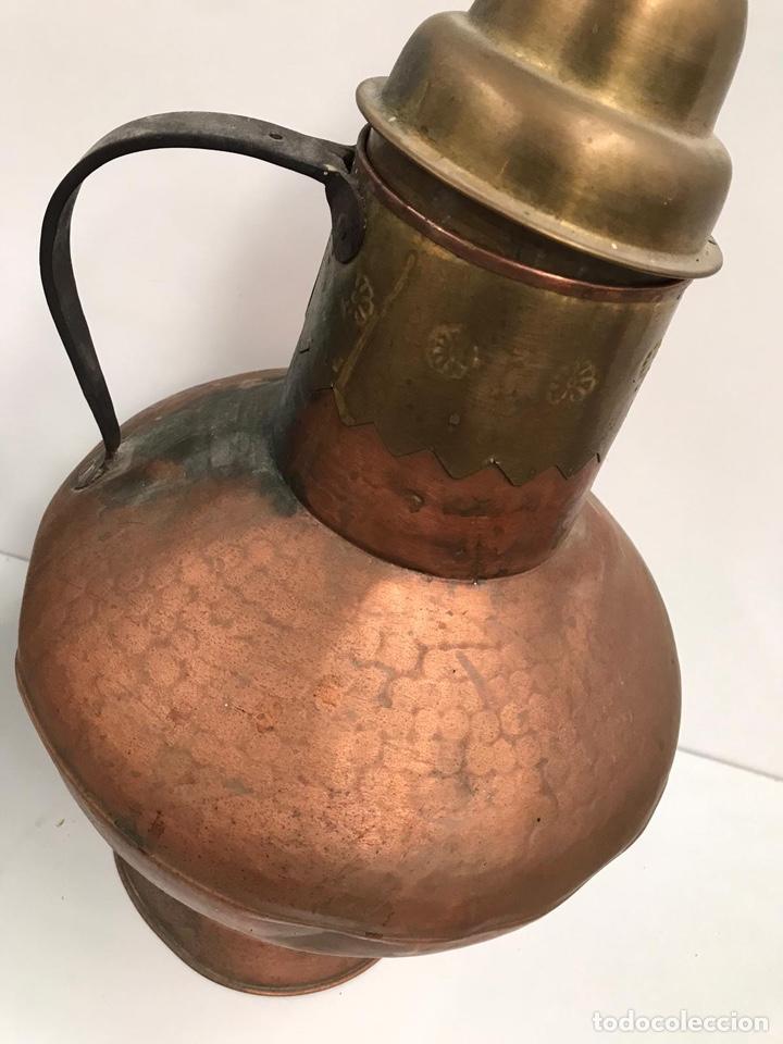 Antigüedades: Antigua lechera de cobre gran tamaño - Foto 3 - 194317210