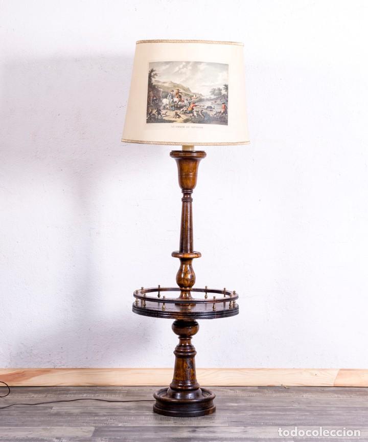 Antigüedades: Lámpara Vintage De Pie - Foto 2 - 194317525