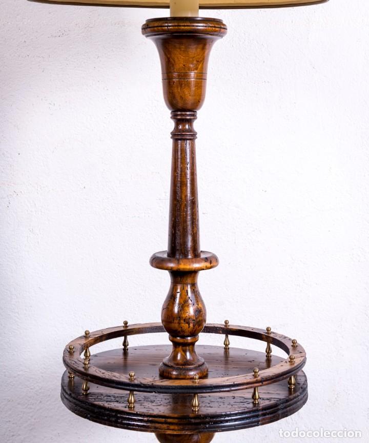 Antigüedades: Lámpara Vintage De Pie - Foto 3 - 194317525