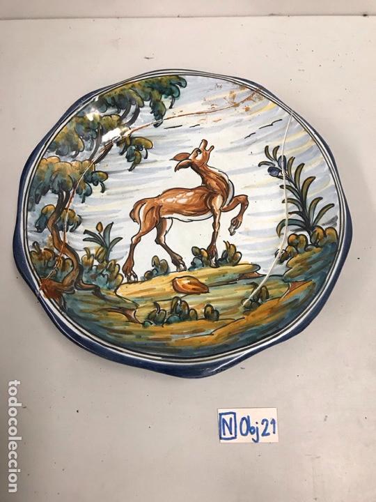 PLATO DE PORCELANA TALAVERA EL CARMEN (Antigüedades - Porcelanas y Cerámicas - Talavera)