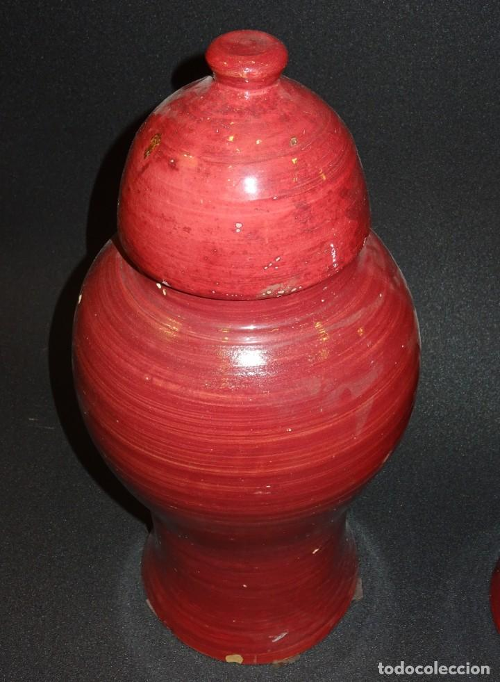 Antigüedades: Pareja de jarrones Indios, S.XIX - Foto 10 - 194320975