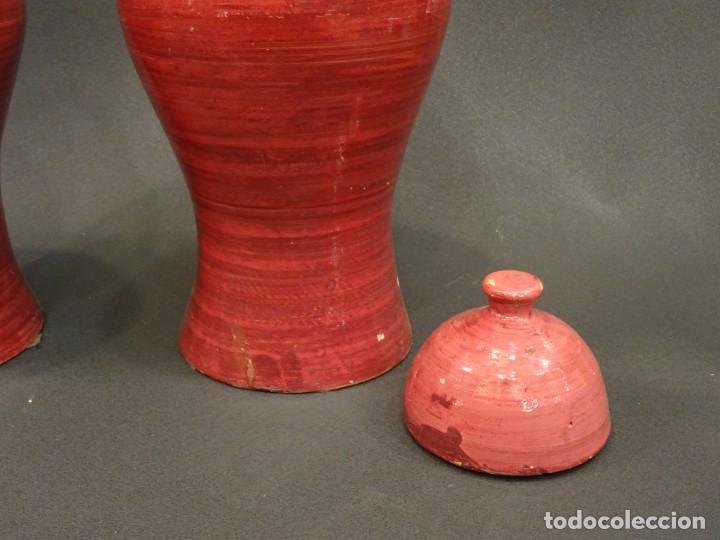Antigüedades: Pareja de jarrones Indios, S.XIX - Foto 11 - 194320975