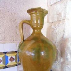 Antigüedades: CANTARO DE ACEITE,ALCUZA-PERULA,ALFARERIA ANDALUZA ZONA DE NIJAR.PRECIOSA .. Lote 194322725