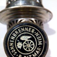 Antigüedades: QUEMADOR QUINQUÉ SIGLO XIX - SONNENBRENNER R. DITMAR WIEN. Lote 194325962