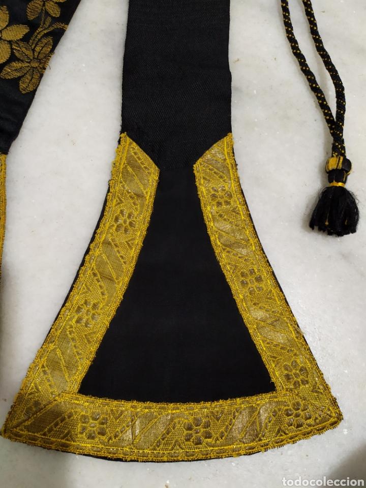 Antigüedades: antigua estola en oro recortada capellan años 40 - Foto 3 - 194327015