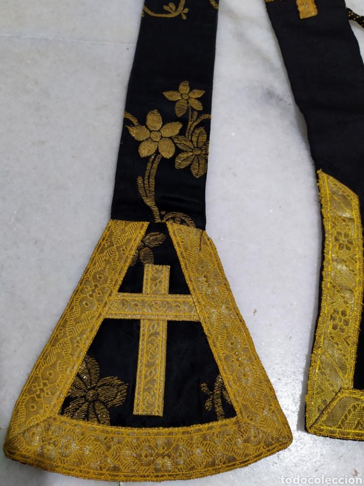 Antigüedades: antigua estola en oro recortada capellan años 40 - Foto 4 - 194327015