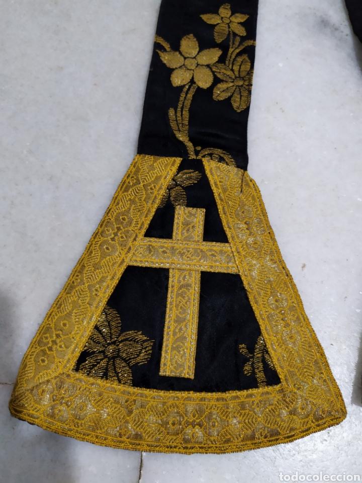 Antigüedades: antigua estola en oro recortada capellan años 40 - Foto 5 - 194327015