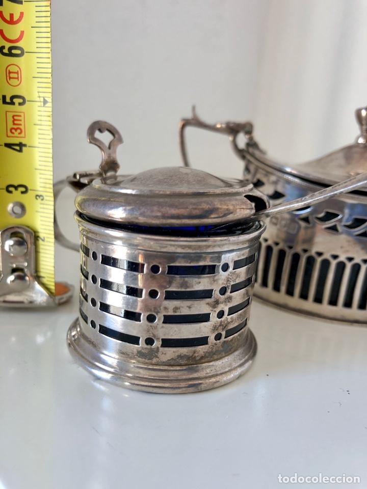 Antigüedades: Salero y azucarero con cucharilla, plata inglesa - Foto 6 - 194327120