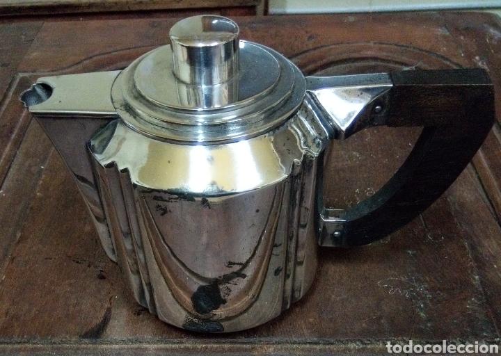 Antigüedades: Juego de café bañado en plata Hijo de B. Capo varet Barcelona - Foto 2 - 194328041