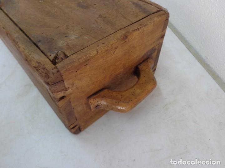 Antigüedades: MUY ANTIGUO MAS DE 100 AÑOS Y BOINITO CUARTAL O HEMINA DE BUENA MADERA COMPLETO Y EN BUEN ESTADO - Foto 6 - 194328904