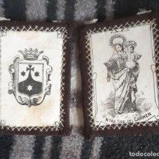 Antigüedades: ESCAPULARIO ANTIGUO NTRA. SRA. DEL CARMEN. Lote 194329872