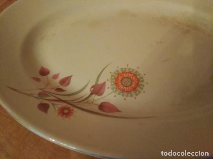 Antigüedades: Antigua fuente de la cartuja pickman con flor naranja. - Foto 2 - 194330473