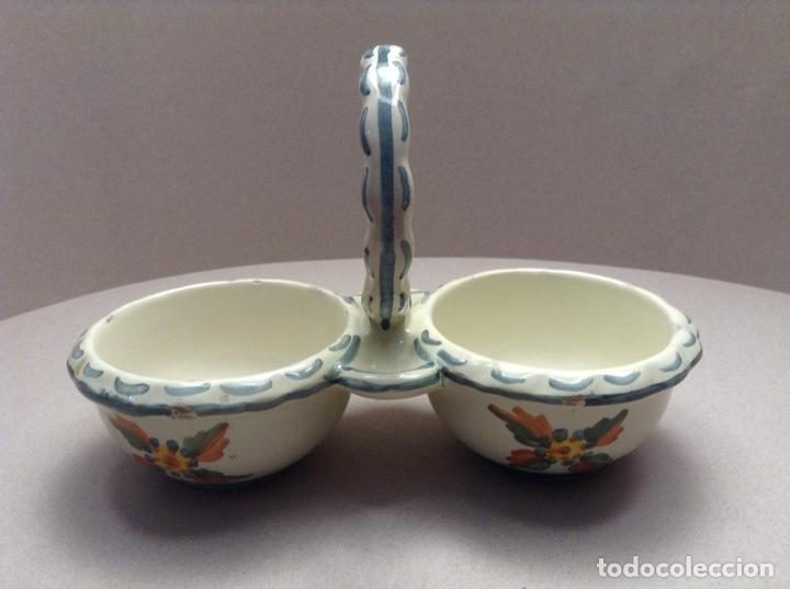 PORTA VINAJERAS ALCORA (Antigüedades - Porcelanas y Cerámicas - Alcora)
