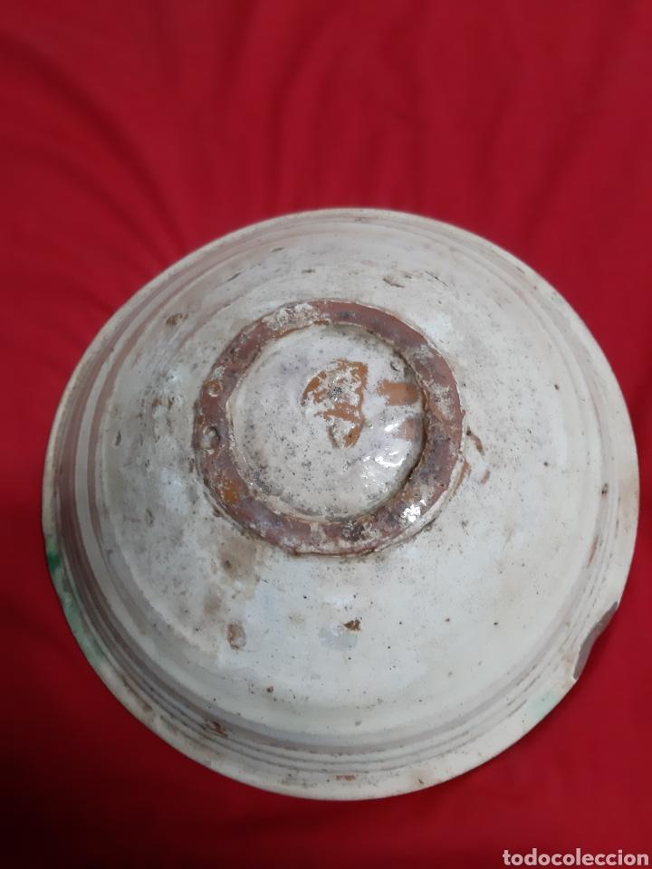 Antigüedades: Antiguo cuenco de cerámica granadina - Foto 5 - 194336946