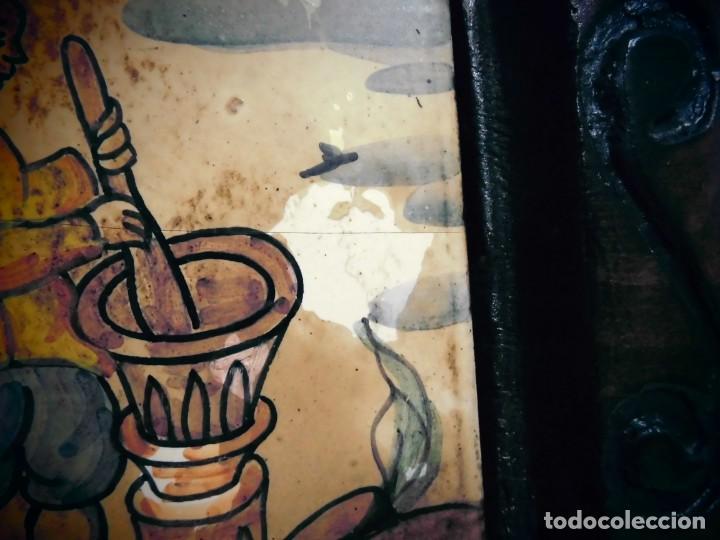 Antigüedades: CUADRO DE CERAMICA PINTADO -MIDE LA CERAMICA 11X11- CON ELMARCO 20X20- - Foto 3 - 194337705