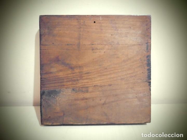 Antigüedades: CUADRO DE CERAMICA PINTADO -MIDE LA CERAMICA 11X11- CON ELMARCO 20X20- - Foto 4 - 194337705