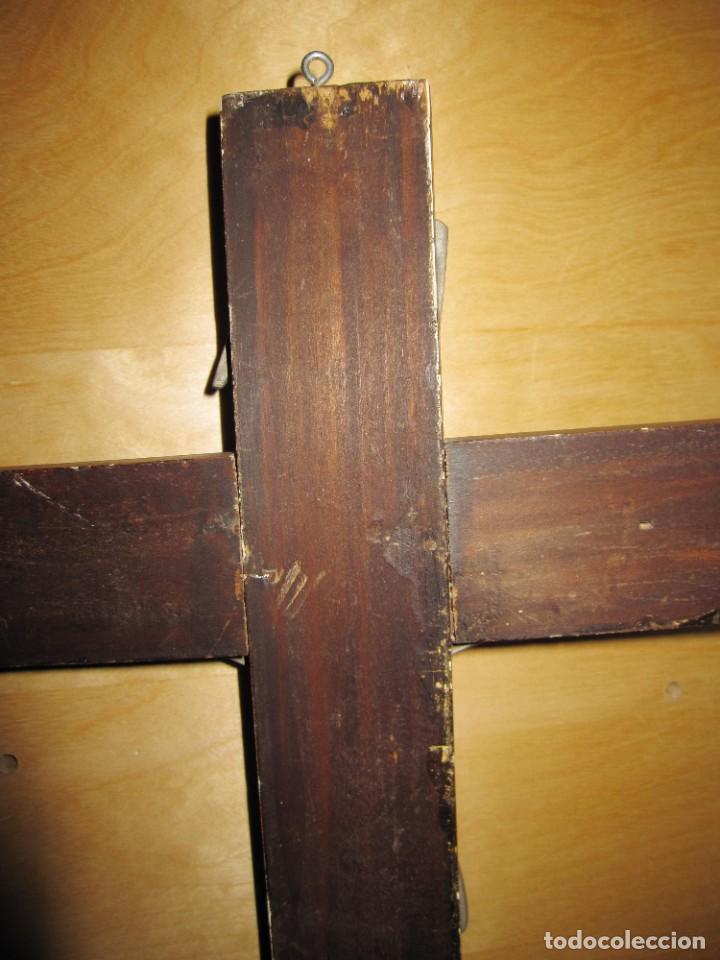 Antigüedades: Antiguo Crucifijo Cruz pared Jesús Cristo - Foto 14 - 194337885