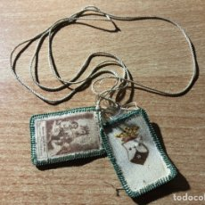 Antigüedades: ESCAPULARIO VIRGEN DEL CARMEN. Lote 194341256