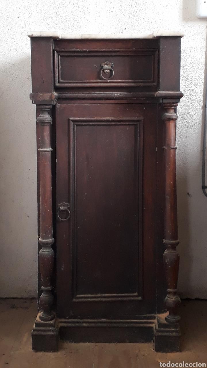Antigüedades: Mesillas de noche antiguas - Foto 2 - 194342245