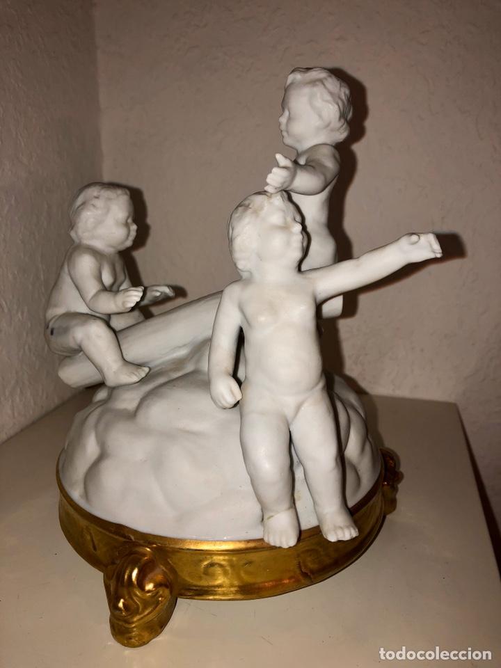Antigüedades: Biscuit Bidasoa tres niños - Foto 2 - 194342766