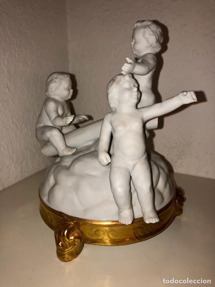 Antigüedades: Biscuit Bidasoa tres niños - Foto 8 - 194342766