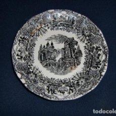 Antigüedades: PLATO 24 CMS CON TRES PEQUEÑAS FALTAS TIENE TRES PEQUEÑAS ROTURAS - LA CARTUJA. Lote 194346323