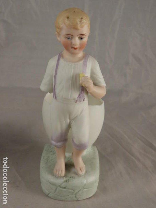 Antigüedades: PRECIOSA PAREJA DE BISCUITS O PORCELANAS COLOREADAS - Foto 8 - 194348886