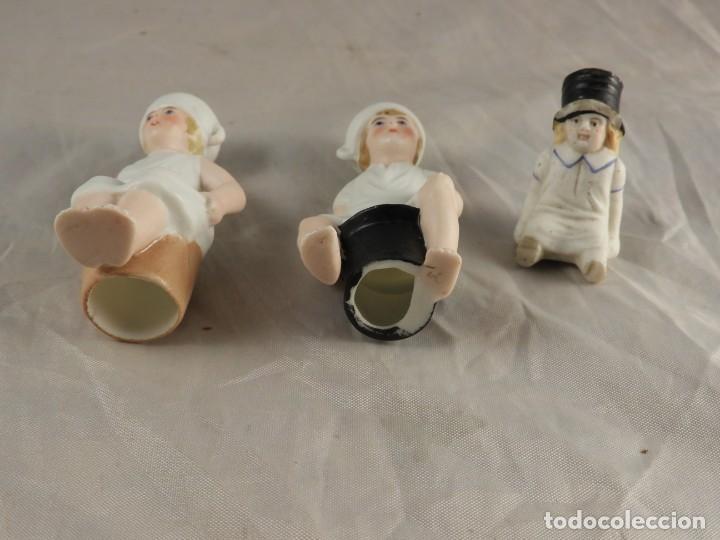 Antigüedades: GRACIOSA PAREJA DE BISCUITS O PORCELANAS COLOREASAS MUY FINAS - Foto 11 - 194348981