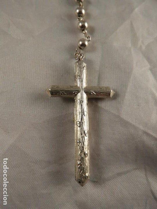 Antigüedades: ROSARIO DE PLATA CON CRISTO EN LA CRUZ - Foto 3 - 194349112