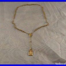 Antigüedades: ROSARIO DE ORO DE 18 KT DE COMUNION. Lote 194349217