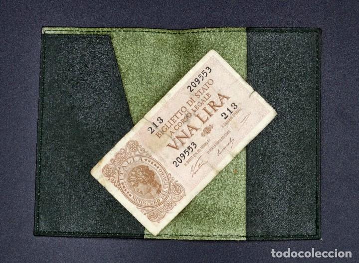 Antigüedades: Tarjetero de cuero - Foto 3 - 194351310