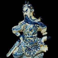 Antigüedades: ANTIGUA ESCULTURA, FIGURA DE PORCELANA DE COMPAÑÍA DE INDIAS. SIGLO XVIII. 73X42X20. Lote 194352228