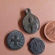 Antigüedades: TRES MEDALLAS ANTIGUAS. Lote 194353602