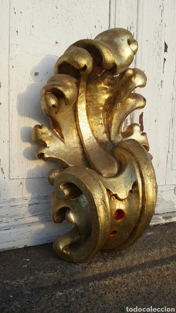 Antigüedades: Ménsula grande de madera siglo XIII - Foto 6 - 194353700