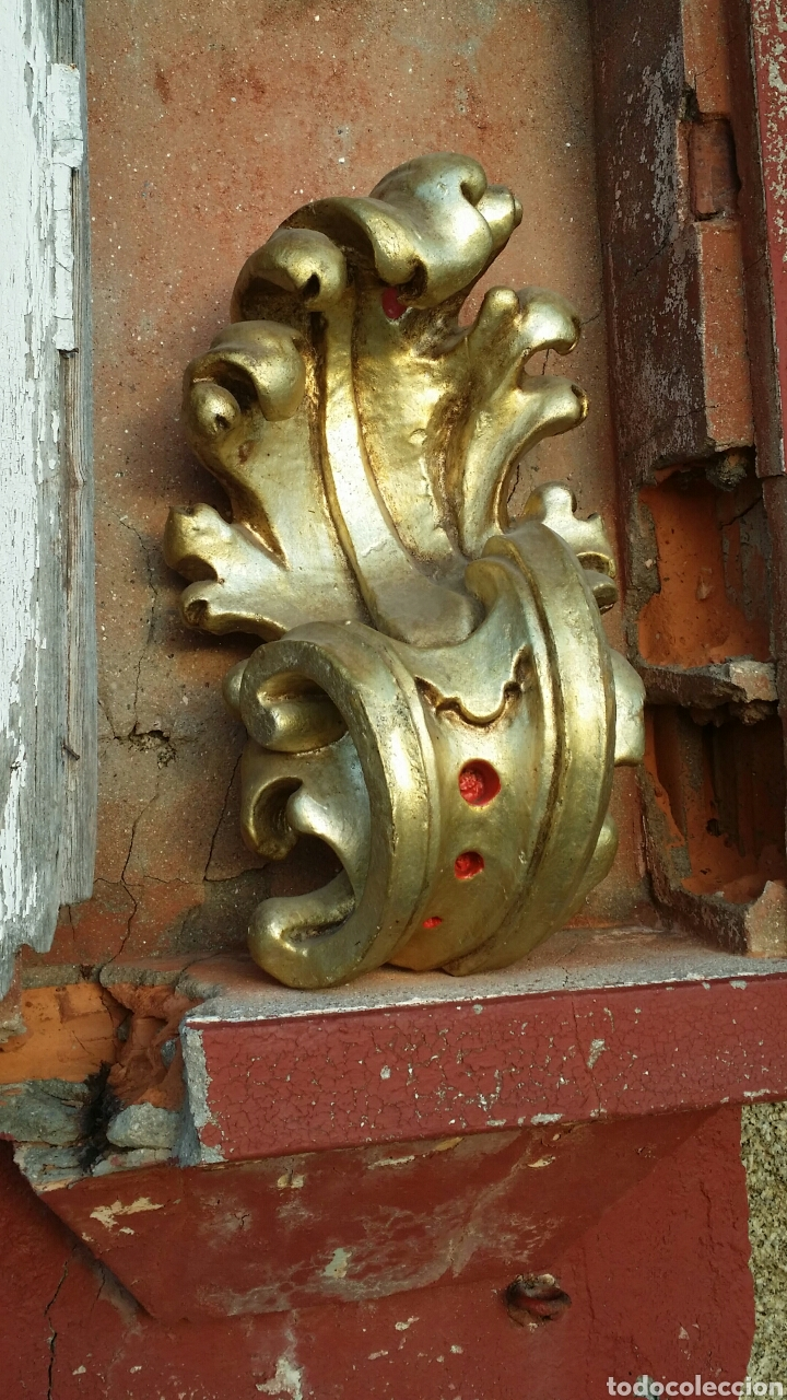 Antigüedades: Ménsula grande de madera siglo XIII - Foto 9 - 194353700